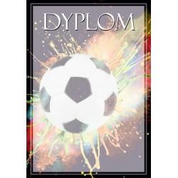DYP120 dyplom piłka nożna komplet 25 szt.