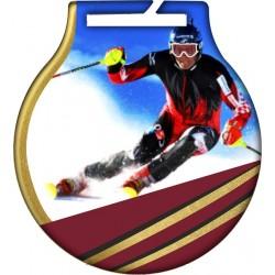 Medal narty-zjazd MC61/G/SKI2