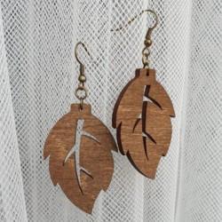 Kolczyki drewniane KOL1L