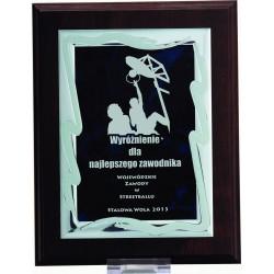 HG82 Dyplom z grawerowaną ozdobną blaszką