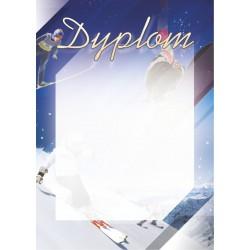 D63 dyplom sporty zimowe narty